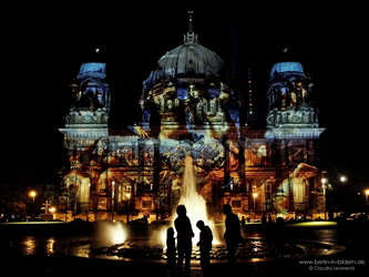 Berlin - Berliner Dom beim Festival of Lights 2008