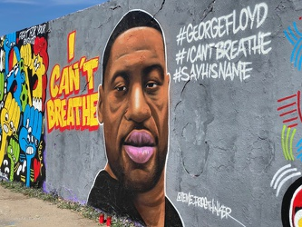 Berlin - Mauerpark - George Floyd -  I Can´t Breathe